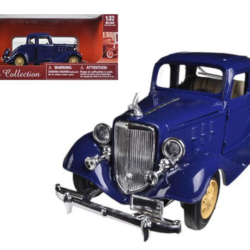 1933 Chevrolet 2 Passenger 5 Window Coupe Blue 1-32 Diecast Model Car by New Ray