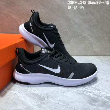 DCCK N705 NIKE FLEX EXPERIENCE RN Sports Casual Running Shoes Black Whie