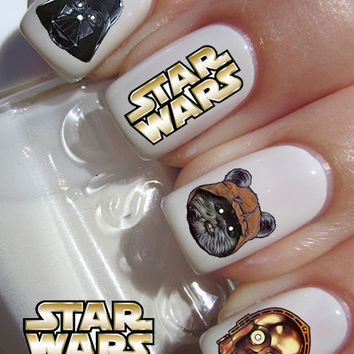 Starwars Nail Art Decals 20 Star Wars Waterslide Nail Decal transfer