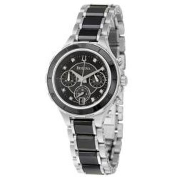Bulova Women's 'Diamonds' Stainless Steel Quartz Watch | Overstock.com