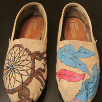 Custom Hand Painted TOMS by jordanforrest on Etsy