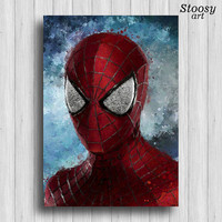 Spiderman print superhero poster marvel prints