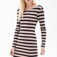 FOREVER 21 Striped Knit Dress