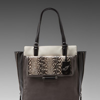 Diane von Furstenberg Highline Tote in Storm/Chalk from REVOLVEclothing.com