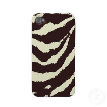 Old Vintage Retro Zebra Print iPhone 4/4S Case Case-mate Iphone 4 Case from Zazzle.com