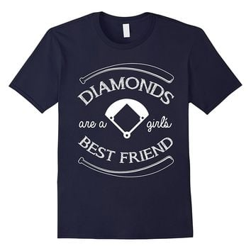 Diamonds Are A Girl's Best Friend - Softball & Baseball Tee
