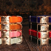 Velvet Personalized Dog Collar