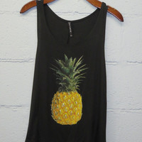 Pineapple Pop Tank - Black