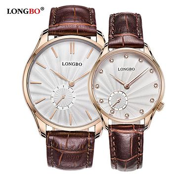 Quartz Watch lovers Watches Women Men Couple Dress Watches Leather Wristwatches Fashion Casual Watches Gold