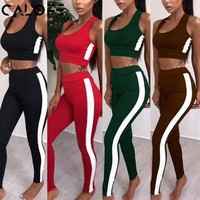 Tracksuit Tights Sportswear  Yoga Workout Two Piece Jumpsuit Crop top