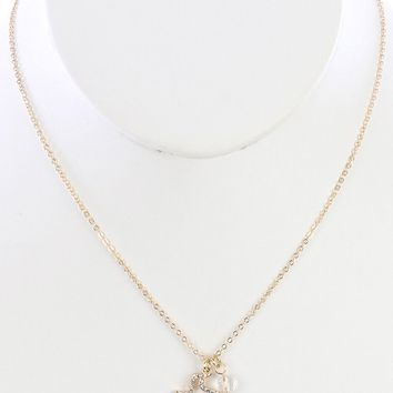 Clear State Of Texas Charm Necklace