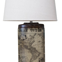 Michael Anthony Furniture Vanguard Series Oval Archaic Map Table Lamp