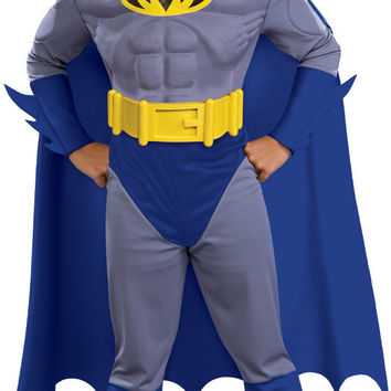 boy's costume: batman brave muscle | large