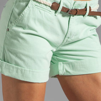 Sanctuary Liberty Roll Short with Belt in Mint from REVOLVEclothing.com