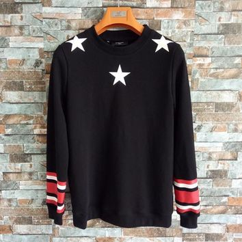 020a5b3e5664 givenchy unisex fashion multicolor stripe five pointed star prin
