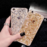 [BIGSALE]Sparkling sand mobile phone case for iphone 7 5s SE 6 6s 6 plus 6s plus + Nice gift box