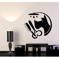 Vinyl Wall Decal Pet Shop Grooming Dog Scissors Stickers (2751ig)