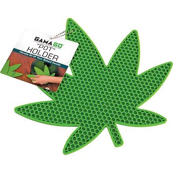 Silicone Leaf-shaped Pot Holder in Green