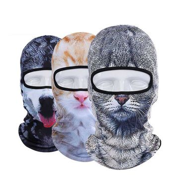 3D Cap Dog Animal Outdoor Sports Bicycle Cycling Motorcycle Masks Ski Hood Hat Veil Balaclava UV Full Face Mask Day-First™