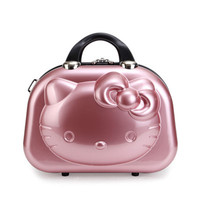 13 inch Cute Travel Luggage Hello Kitty Women Make up bags,Girls Cartoon Suitcase,Hello Kitty Travel Cosmetic Bag For Children