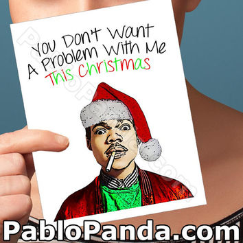Funny Christmas Card | Chance The Rapper | Boyfriend Christmas Funny Boyfriend Nerd Christmas Gift Funny Xmas Christmas Boyfriend Problem