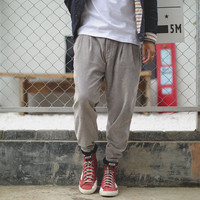 Men's Fashion Design Autumn Casual Pants Lights Skinny Pants [7929369347]
