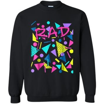 Rad 80s Throwback  Printed Crewneck Pullover Sweatshirt