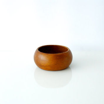 SOLID TEAK BOWL, Dansk Danish Modern, Midcentury, Hand Turned, Serving Dish for Snacks or Nuts, Made in Denmark