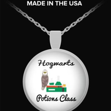 Hogwarts Potions Class Harry Potter Exclusive Owl Necklace
