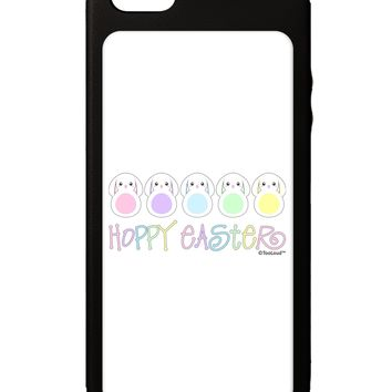 Cute Pastel Bunnies - Hoppy Easter iPhone 5C Grip Case  by TooLoud