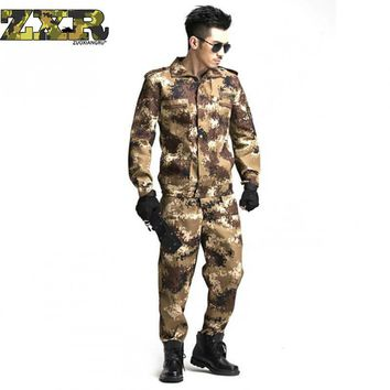 Zuoxiangru Us Army Camouflage Clothes Set Men Tactical Soldiers Combat Jacket Suit Multicam Camo Military Uniform Clothing