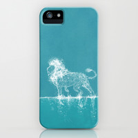 The Water Lion iPhone & iPod Case by Paula Belle Flores