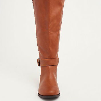 Studded Knee-High Boot (Wide Width & Wide Calf)
