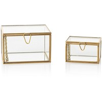 Gold & Glass Nesting Trinket Boxes | Oliver Bonas