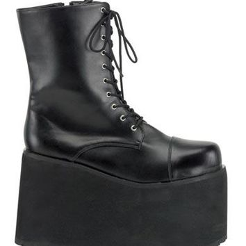 Pleaser Female Mens Lace Up Front Platform Ankle Boot, 5 Inch MON10