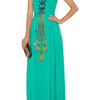 Issa Embellished silk crepe de chine maxi dress – 60% at THE OUTNET.COM