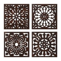 Bronze Floral Medallion Tiles, Set of 4 | Kirkland's