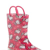 Girl's Western Chief 'Hello Kitty' Light-Up Rain Boot,