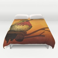 The Sunset Bird Duvet Cover by Texnotropio