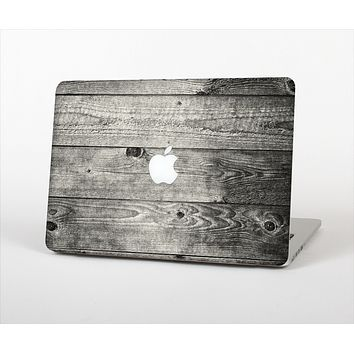 "The Dark Washed Wood Planks Skin Set for the Apple MacBook Pro 13"" with Retina Display"