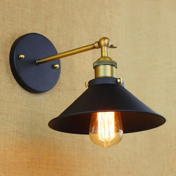 mini small wall lamps Vintage black rustic wall sconce lights Retro Loft Industrial Wall Lamp lamparas Arandela De Pared