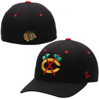 Chicago Blackhawks Zephyr Alternate Crosscheck Fitted Hat – Black