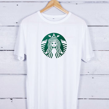 Starbuck Little Mermaid art Tshirt T-shirt Tees Tee Men Women Unisex Adults