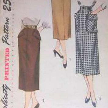 Vintage Simplicity Sewing  Pattern #3330 Pencil Skirt 1960S