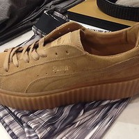 Puma Rihanna Creeper Oatmeal Beige Women Sizes
