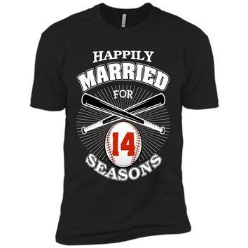 14th Wedding Anniversary T-Shirt Baseball Couple Gift Shirt t-shirt