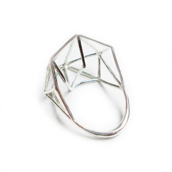 Architectural Structure Wide Geometric Sterling by osnatharnoy