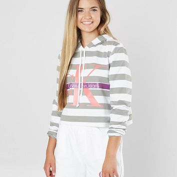 Calvin Klein Striped Sweatshirt - Women's Sweatshirts in Standard White | Buckle