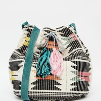 Pieces Tapestry Drawstring Duffle Bag