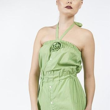 Green Rose Top, S